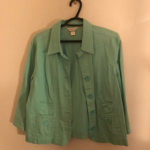 Christopher & Banks turquoise blazer